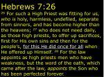hebrews 7 26