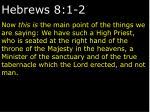 hebrews 8 1 2