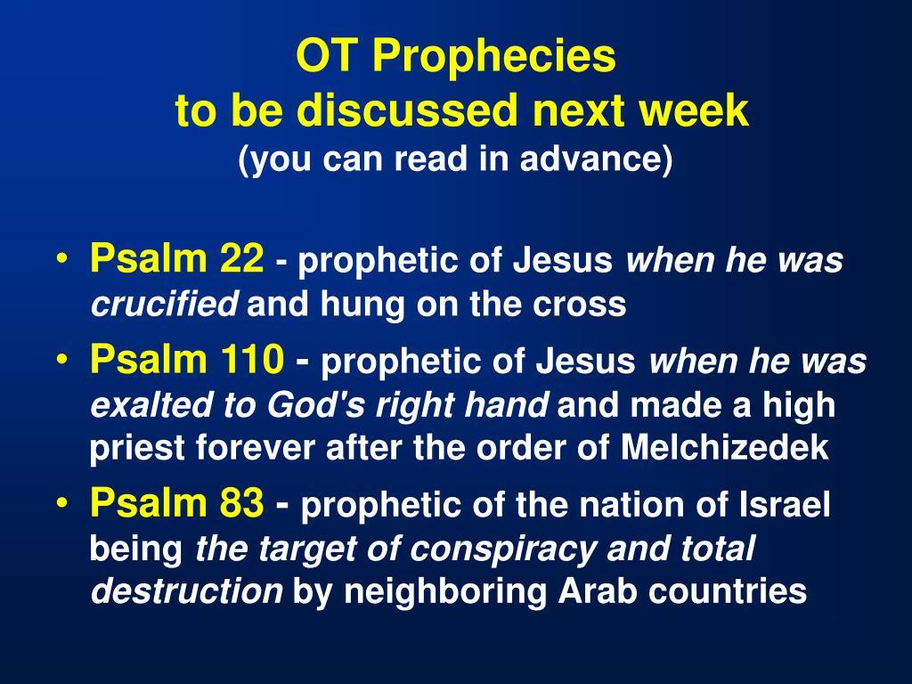 OT Prophecies