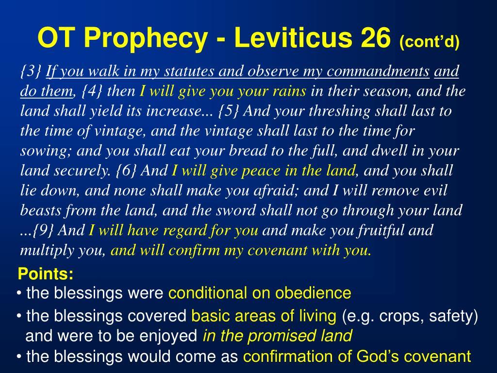 OT Prophecy - Leviticus 26