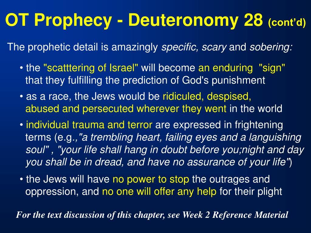 OT Prophecy - Deuteronomy 28