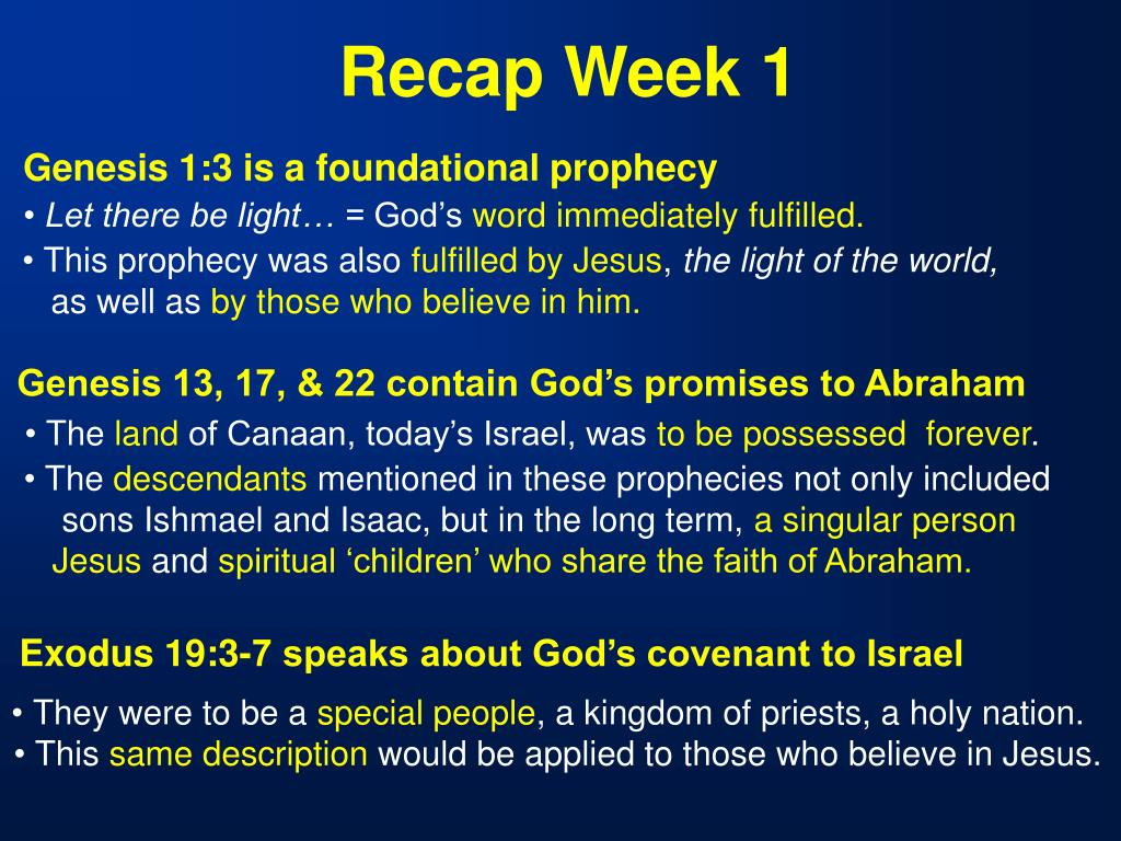 Recap Week 1