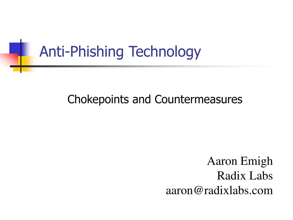 anti phishing technology l.