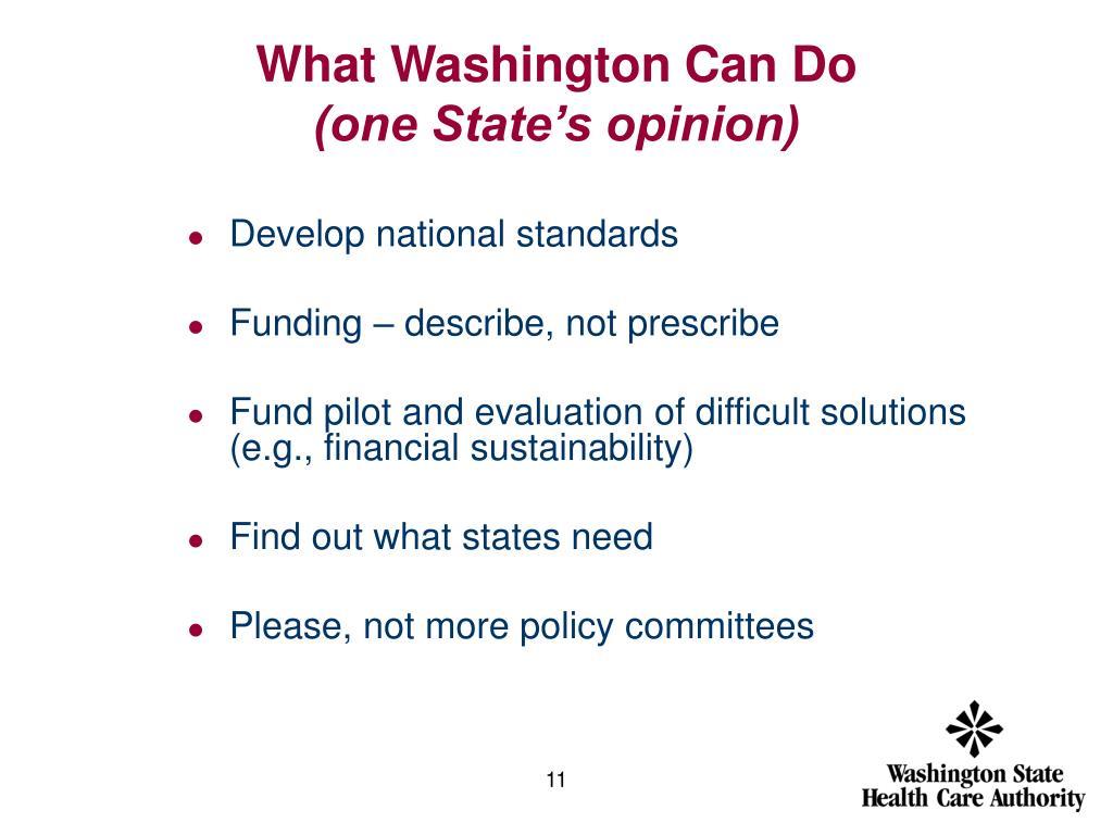 What Washington Can Do