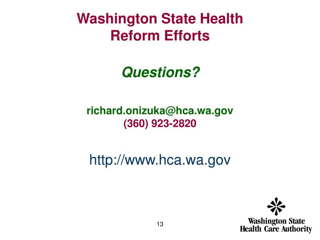 Washington State Health