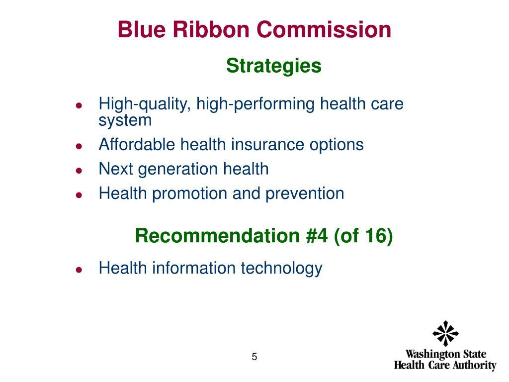Blue Ribbon Commission