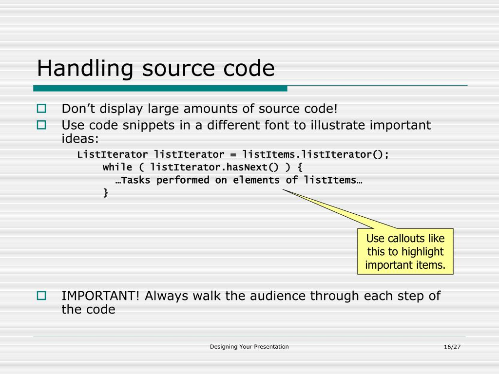 Handling source code
