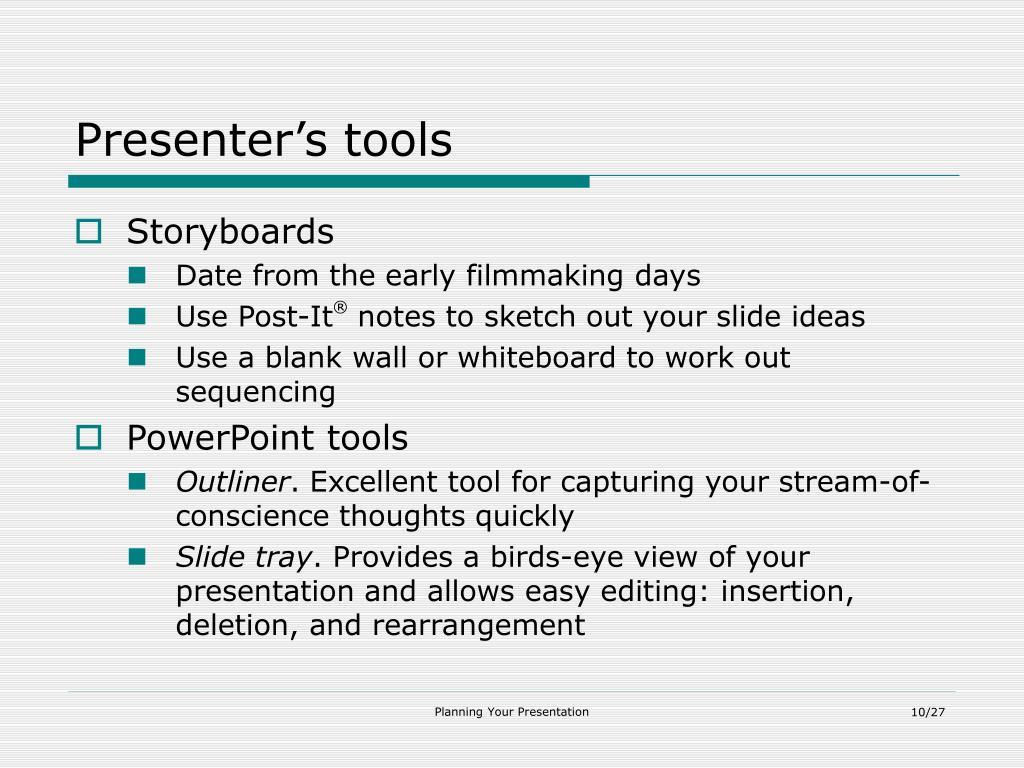 Presenter's tools