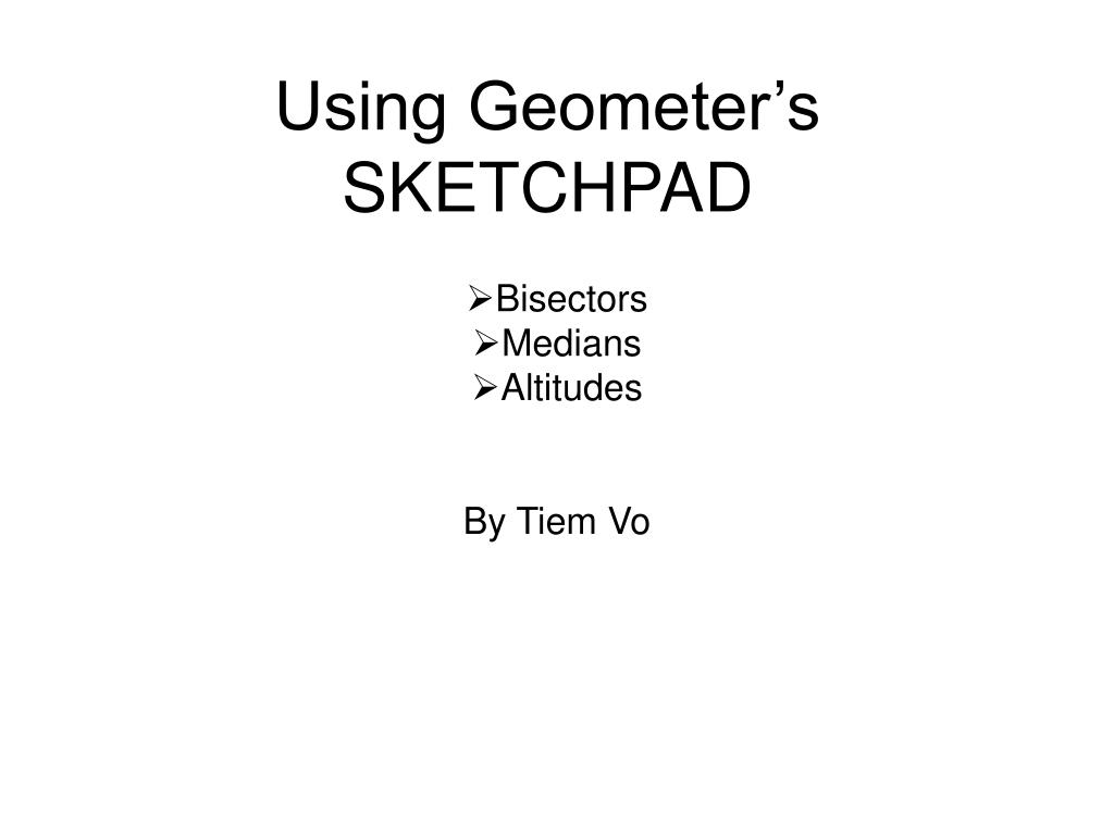 Using Geometer's SKETCHPAD
