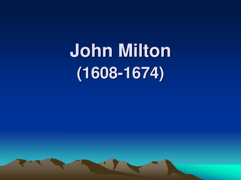 john milton 1608 1674 l.