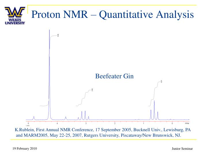 Proton nmr quantitative analysis