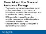 financial and non financial assistance package