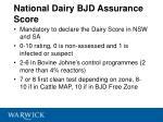 national dairy bjd assurance score
