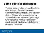 some political challenges