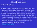 about repatriation