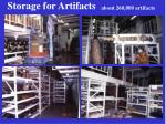 storage for artifacts