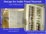 storage for audio visual materials