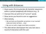 using edit distances