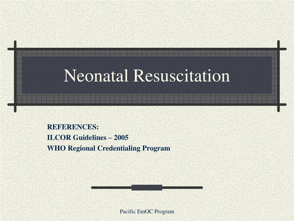 neonatal resuscitation l.