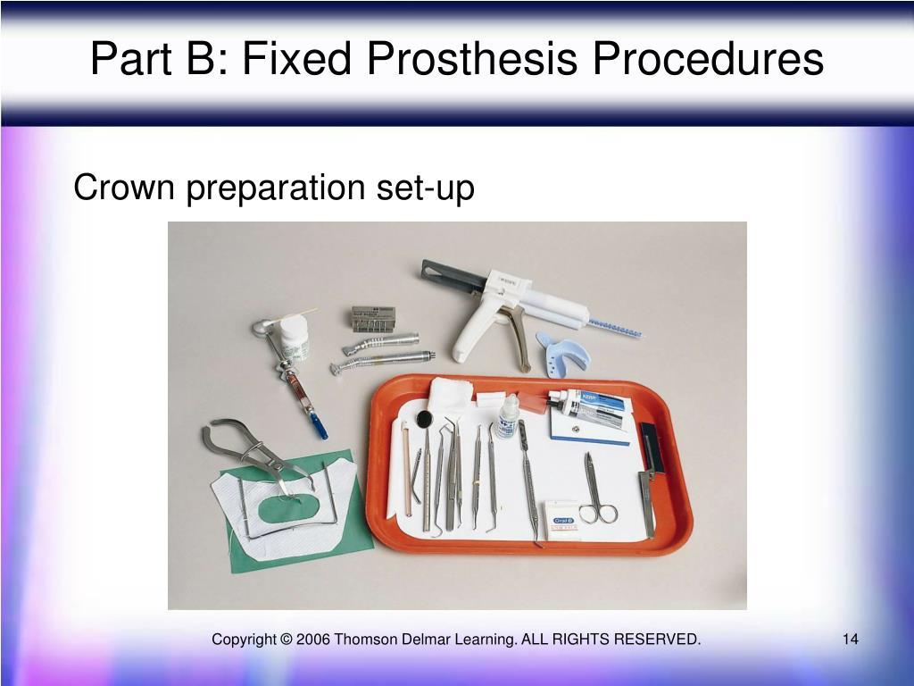Part B: Fixed Prosthesis Procedures