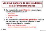 les deux dangers de sant publique li s l antibior sistance