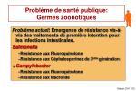 probl me de sant publique germes zoonotiques
