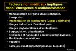 facteurs non m dicaux impliqu s dans l mergence d antibior sistance