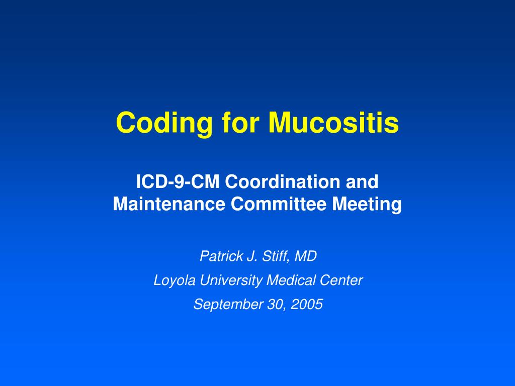 coding for mucositis l.