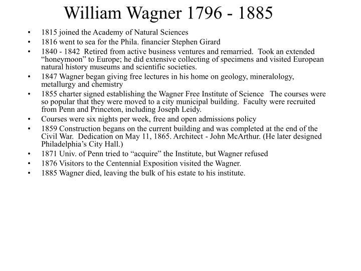 William wagner 1796 1885