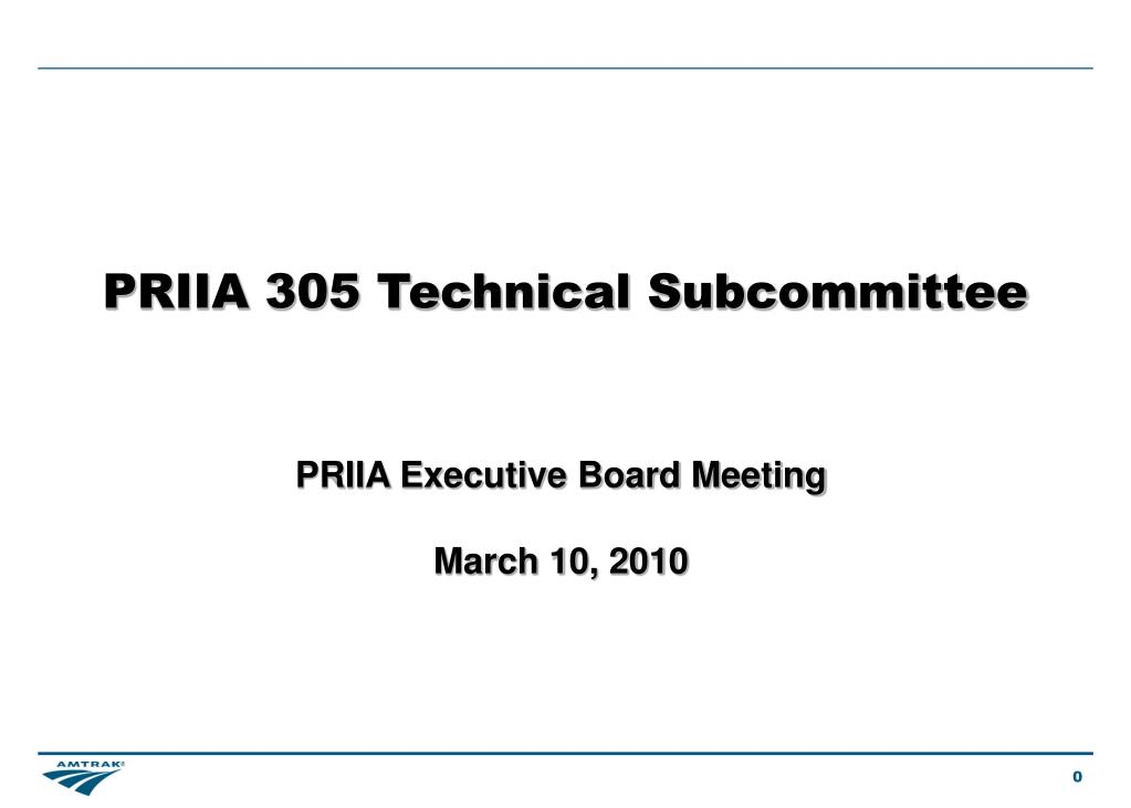 priia 305 technical subcommittee l.