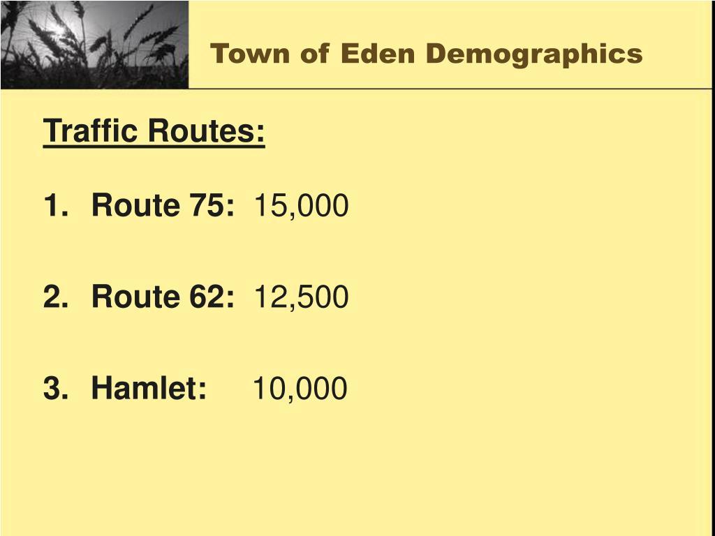 Town of Eden Demographics