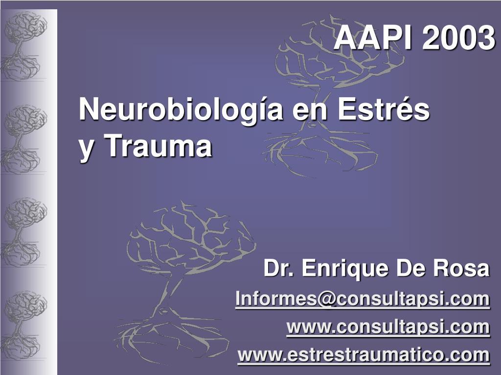 neurobiolog a en estr s y trauma l.