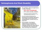 schizophrenia and work disability