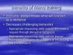 benefits of mand training55