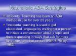 naturalistic aba strategies