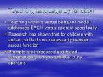 teaching language by function