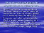 what do we know about the effectiveness of interspersal
