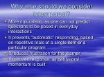 why else should we consider interspersal