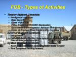 fob types of activities