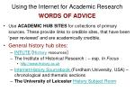 using the internet for academic research words of advice10