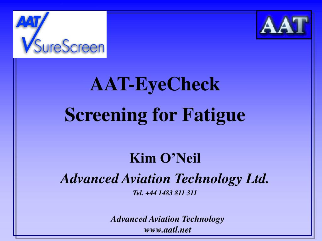 aat eyecheck screening for fatigue l.