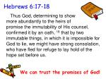 hebrews 6 17 18