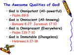 the awesome qualities of god11