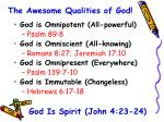 the awesome qualities of god13