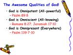 the awesome qualities of god9