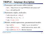 triple language description