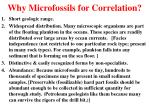 why microfossils for correlation