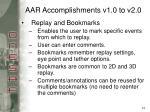 aar accomplishments v1 0 to v2 0
