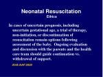 neonatal resuscitation ethics55