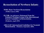 resuscitation of newborn infants